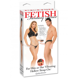 FF Vibrating Hollow Strap On Flesh