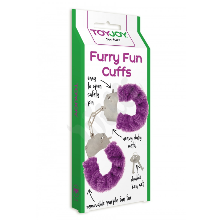Pouta Toy Joy fialová Furry fun Cuffs Purple Plush